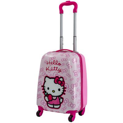 Детский чемодан 4 колеса «Hello Kitty» розовый