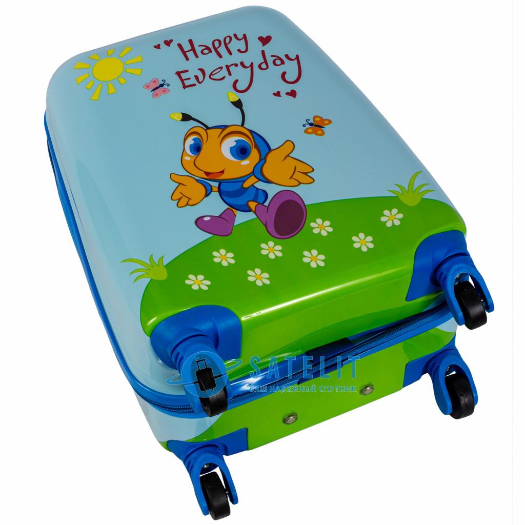 Детский чемодан 4 колеса «Нappy every day»