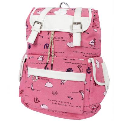 Рюкзак Color Style Casual Sea ярко-розовый