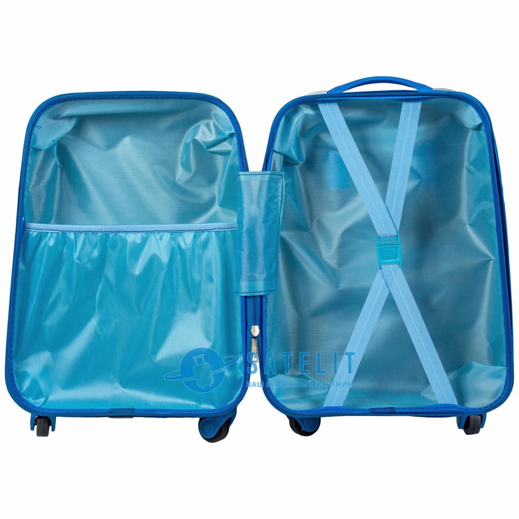 Детский чемодан 4 колеса «Миньоны 4»